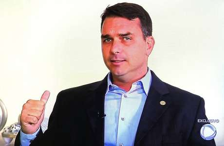 Flávio Bolsonaro em entrevista à TV Record