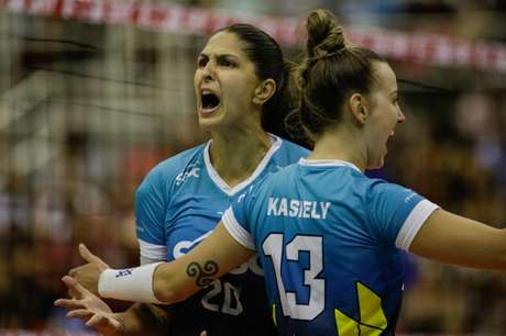 Bia foi um dos destaques da partida (Foto: Divulgação/Sesc)
