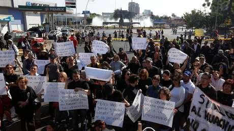 As medidas levaram protestos, como este em Guadalajara