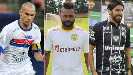 Wagner Diniz, Jobson e Loco Abreu: veteranos que estarão em campo em breve