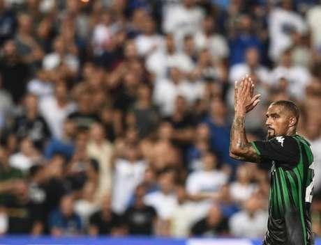 Boateng participou do empate do Sassuolo com a Internazionale, neste sábado (Foto: Reprodução)