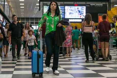 Movimentação no Aeroporto de Congonhas, na zona sul da cidade de São Paulo (11/01/2019)