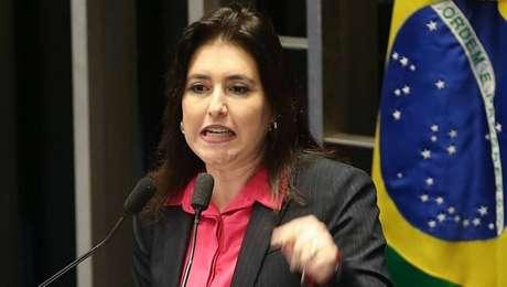 A senadora Simone Tebet comunicou ao MDB decisão de disputar a eleição; parlamentar é vista com simpatia por opositores de Rena