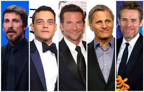 Christian Bale, Rami Malek, Bradley Cooper, Viggo Mortensen e Willem Dafoe estão na disputa de melhor ator