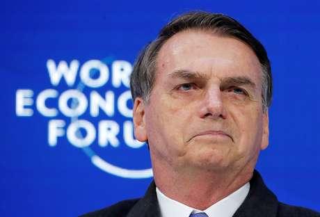 Bolsonaro durante discurso debate do Fórum Econômico Mundial de 2019