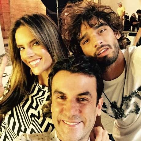 Alessandra Ambrósio, Anderson Baumgartner e Marlos Teixeira (Foto: Divulgação)