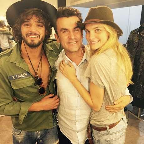 Marlon Teixeira, Anderson Baumgartner e Carol Trentini (Foto: Divulgação)