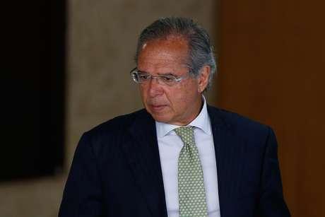 O ministro da economia, Paulo Guedes, durante cerimônia de assinatura do decreto que flexibiliza a posse de armas no Brasil