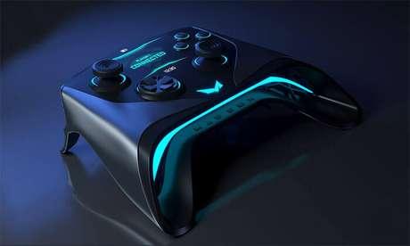 O controle lembra o do Xbox, mas...