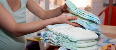 Na França, um bebê usa, em média, de 3.800 a 4.800 fraldas descartáveis