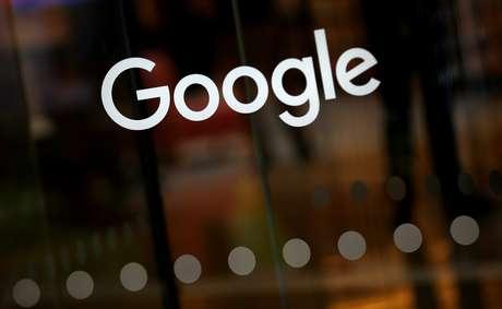 Logo do Google no escritório da empresa em Londres