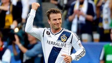 Beckham em ação pelo Los Angeles Galaxy (Foto: AFP)