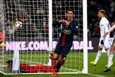 Di Maria marcou o segundo gol do PSG (Foto: AFP)