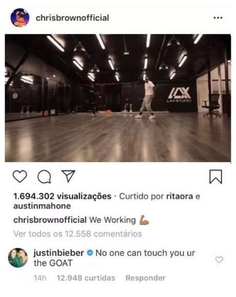 Justin Bieber defende Chris Brown de denúncia de estupro.