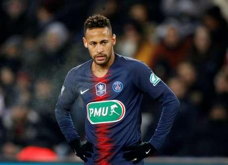 Neymar se lesionou na partida entre PSG e Strasbourg (23/01/2019)