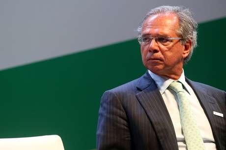 O ministro da Economia, Paulo Guedes, durante cerimônia no Rio de Janeiro