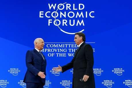 Presidente Jair Bolsonaro no Fórum Econômico Mundial em Davos 22/01/2019 REUTERS/Arnd Wiegmann