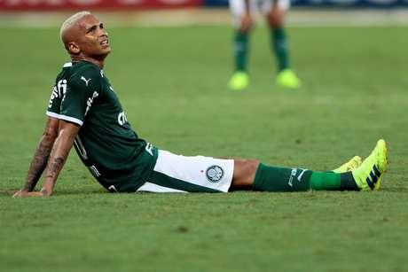 Deyverson, do Palmeiras, em partida contra o Botafogo, válida pela 2ª rodada do Campeonato Paulista 2019, no Allianz Parque, em São Paulo, na noite desta quarta-feria (23/01/2019)