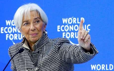 Diretora-gerente do FMI, Christine Lagarde, em Davos 25/01/2019 REUTERS/Arnd Wiegmann