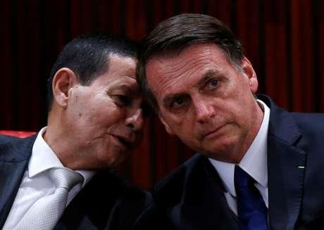 Presidente Jair Bolsonaro e vice-presidente Hamilton Mourão 10/12/2018 REUTERS/Adriano Machado