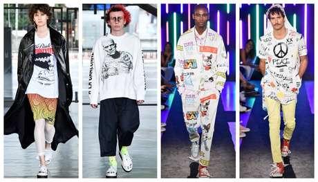 Dois destaques da mais recente edição da São Paulo Fashion Week, as marcas Cacete Company (1 e 2)e Piet (3 e 4), representantes da nova geração da moda nacional