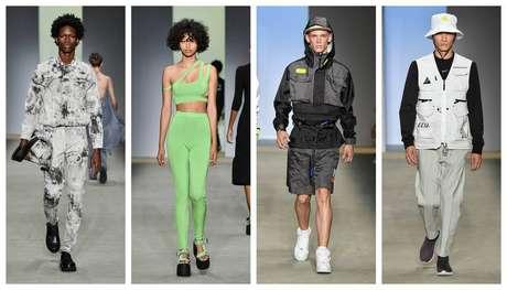 Looks das últimas coleção das marcas À La Garçonne (1 e 2) e Dabliu Costa (3 e 4), outros nomes dessa nova onda da moda de rua no Brasil