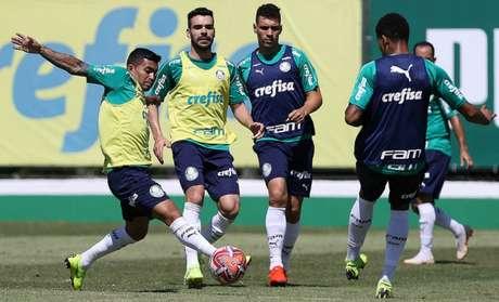 Treinamento deste sábado foi o último antes da partida em São Caetano do Sul (Agência Palmeiras/Divulgação)
