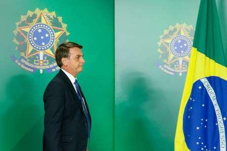 Presidente Jair Bolsonaro no Palácio do Planalto 25/01/2019 Isac Nobrega/Presidência da República/Divulgação via REUTERS