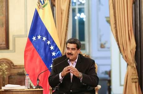 Presidente da Venezuela, Nicolás Maduro, no Palácio Miraflores em Caracas 28/01/2019 Palácio Miraflores/Divulgação via Reuters
