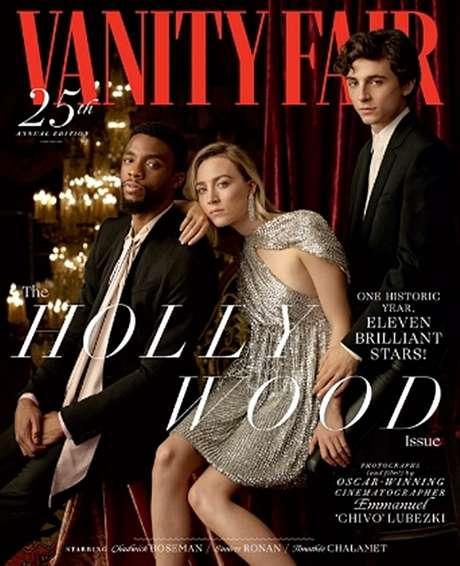 Chadwick Boseman, Saoirse Ronan e Timothée Chalamet: a capa dos sonhos de todos os atores de Hollywood