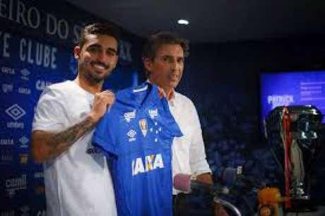 Brey veio do Tupi para o Cruzeiro em 2018 , mas não convenceu totalmente Mano Menezes para se manter no elenco estrelado- Viniicius Silva/Cruzeiro