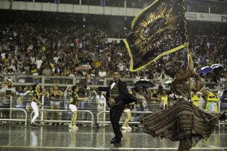 Ensaio técnico da Vai-Vai, a maior campeã do Carnaval de São Paulo, com 15 títulos do grupo especial