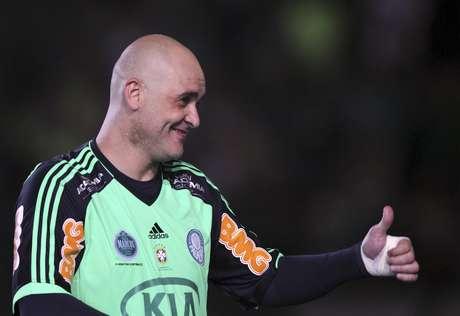 Marcos em partida amistosa de despedida do Palmeiras em dezembro de 2012