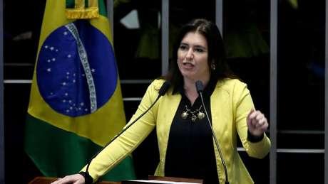 A senadora Simone Tebet, presidente da CCJ