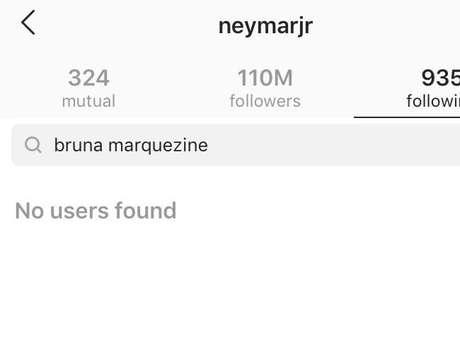 Neymar deixa de seguir Bruna Marquezine no Instagram