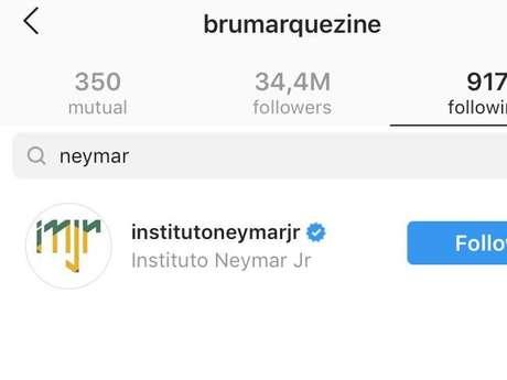 Bruna Marquezine dá unfollow em Neymar