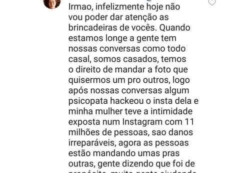 Whindersson Nunes responde seguidor após vazamento de foto de Luísa Sonza nua