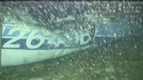 Destroços de avião que levava jogador Emiliano Sala encontrados no fundo do mar perto de Guernsey, no Canal da Mancha 03/02/2019 AAIB/ via REUTERS TV
