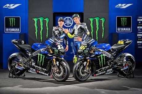 Monster Energy Yamaha apresenta degradê preto e azul para a temporada de 2019 da MotoGP