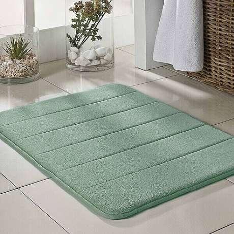 6- O tapete de banheiro leva conforto e beleza ao ambiente. Fonte: Mercado Livre