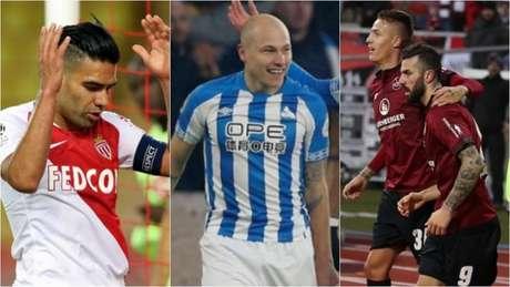 Monaco, Huddersfield e Nuremberg estão entre os piores aproveitamentos (Foto: Montagem/AFP/Divulgação)