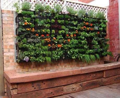16. Para ter uma horta vertical nesse estilo, você deve ir em lojas especializadas em jardins verticais
