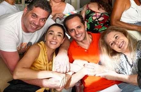 O produtor Marcio Rosario com a atriz Rita Elmôr, o diretor Daniel Ghivelder e a estrela Vera Fischer