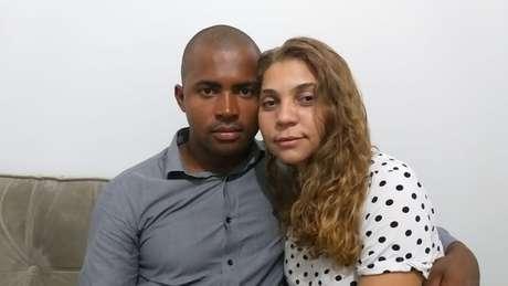 Walcir e a esposa Queila; ele trabalhava em uma empresa tercerizada da Vale no momento do rompimento da barragem e conseguiu fugir