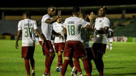 Fluminense: poderio de fogo inspirado (Foto: LUCAS MERÇON / FLUMINENSE F.C.)