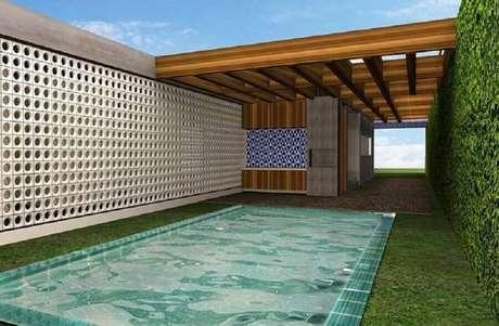 2. Nas áreas externas o cobogó completa e moderniza a decoração – Foto: Neu dekoration stile