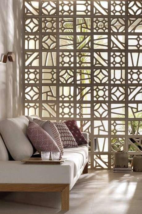 35. O cobogó pode ser utilizado apenas como um elemento estético nos ambientes – Foto: Viviana Reis Design de Interiores