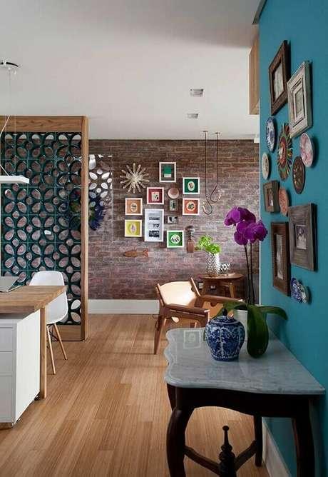 37. A divisória de cobogó também pode ser utilizado para ambientes com estilo moderno e rústico – Foto: Decora Gi