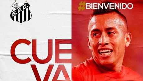 Santos confirma contratação de Cueva