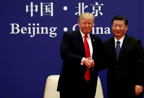 Presidente dos EUA, Donald Trump, e da China, Xi Jinping, em Pequim 09/11/2017 REUTERS/Damir Sagolj